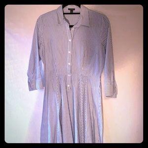 Ann Taylor striped dress/flare dress